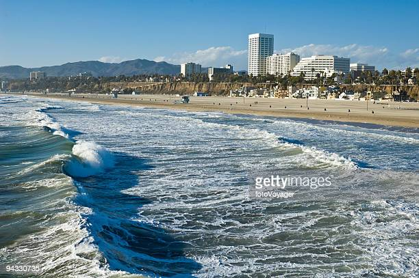 Santa Monica surf, beach