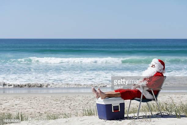 Santa am Strand