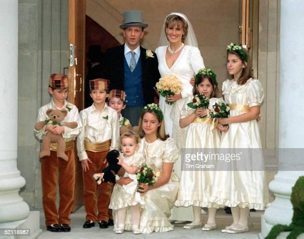Santa Palmertomkinson With Her New Husband Simon Sebagmontefiore And Bridesmaids And Pageboys Bridesmaids Honor Palmertomkinson Jessica...