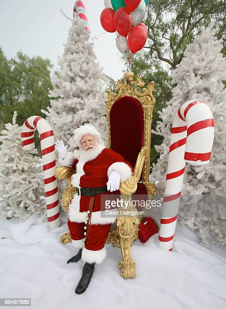 Santa poses at the home of John Paul DeJoria CEO and cofounder of John Paul Mitchell Haircare Systems during his annual party to thank movie...