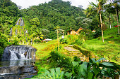 View of the hot springs of Santa Rosa de Cabal near Manizales, Colombia