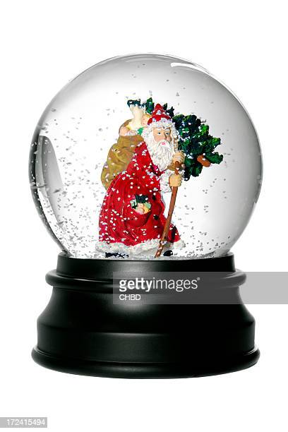 Santa Bola de Cristal com Neve.