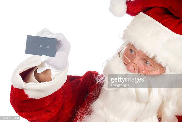Santa avec une carte-cadeau