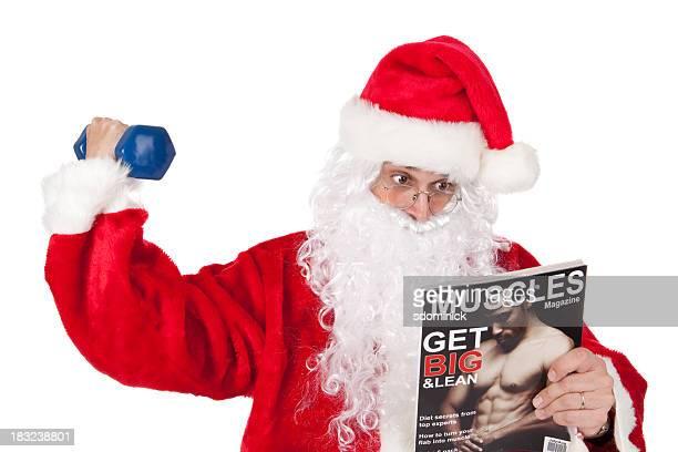 Santa treinar e revista de leitura