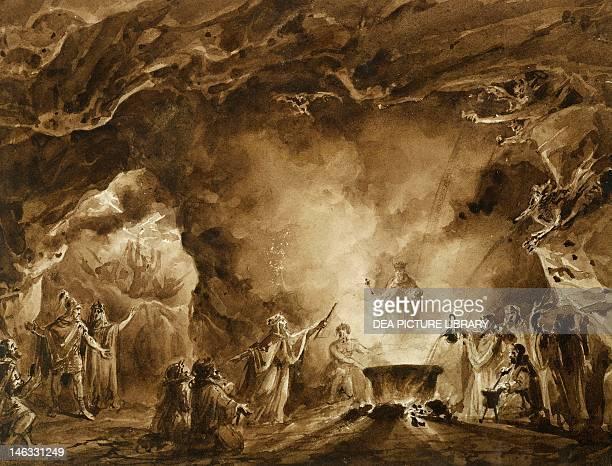 Sant'Agata Di Villanova Sull'Arda Villa Verdi The apparition of ghosts giving gifts to Macbeth in the witches' cave by Francesco Hayez