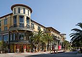 Santana Row shopping district, San Jose, CA