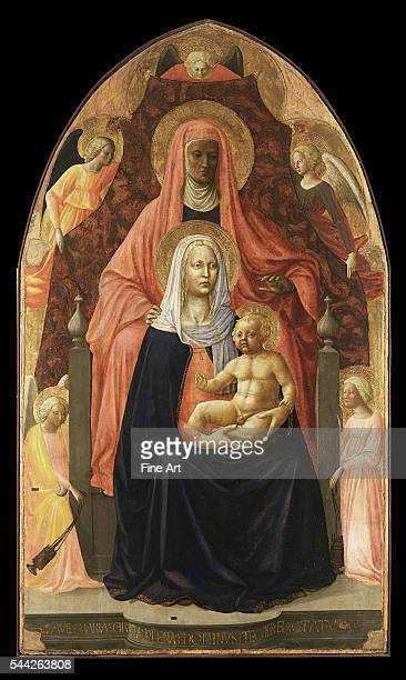 Sant'Anna Metterza 14245 tempera on panel 175 x 103 cm Uffizi Gallery Florence