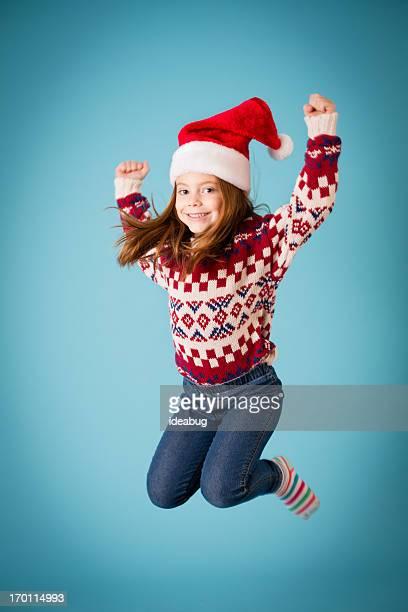 Santa s Little Helper heureux sautant de joie