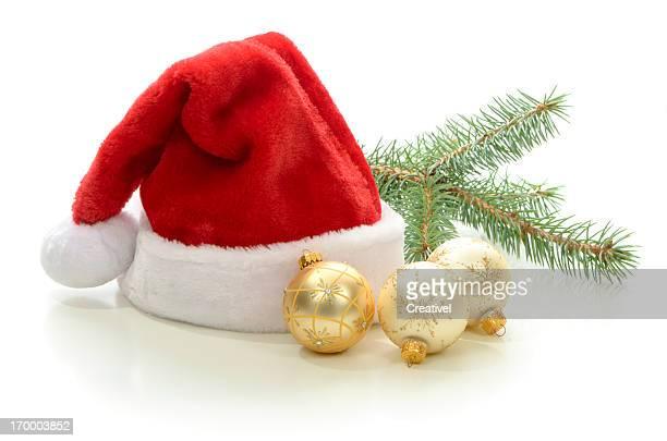 Santa's Hat and Christmas ornaments