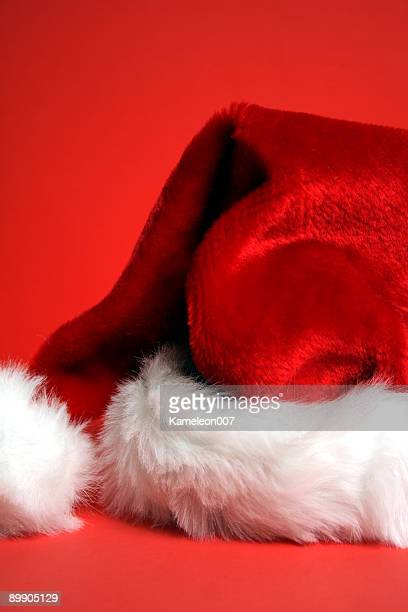 Santa's Hat on red Background