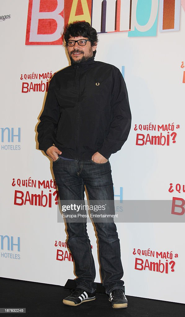 Santi Amodeo attends the photocall of '¿Quien Mato a Bambi?' at Hesperia Hotel on November 12, 2013 in Madrid, Spain.