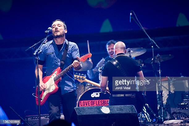 Santi Balmes of Love of Lesbian performs on stage during FNAC Music Festival at Palau Sant Jordi on December 29 2011 in Barcelona Spain