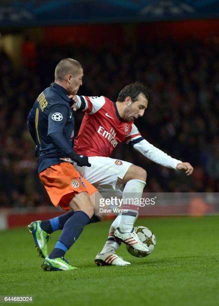 Santi CAZORLA / Anthony MOUNIER Arsenal / Montpellier Ligue des Champions Photo Dave Winter / Icon Sport