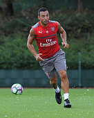 Santi Cazorla of Arsenal during a 1st team training session at London Colney on July 23 2016 in St Albans England