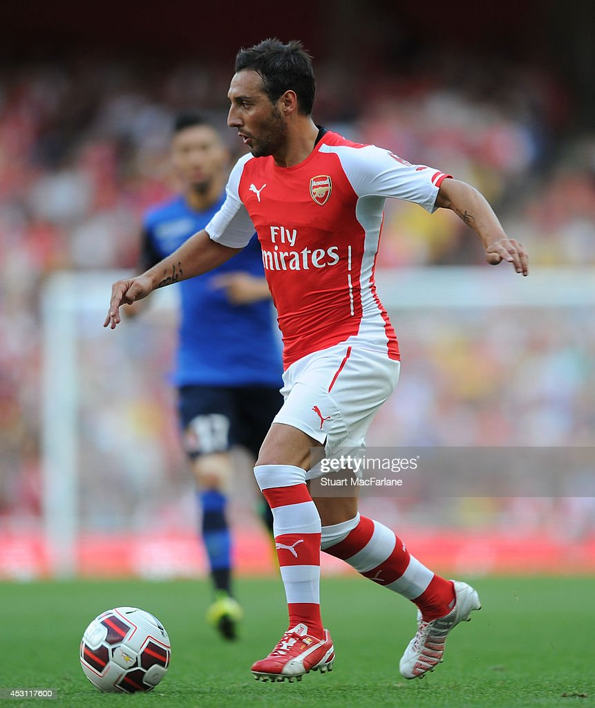 Santi Cazorla of Arsenal during the Emirates Cup match between Arsenal and AS Monaco at Emirates Stadium on August 3, 2014 in London, England.