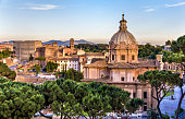 Santi Luca e Martina, a catholic church at the Roman Forum - Italy