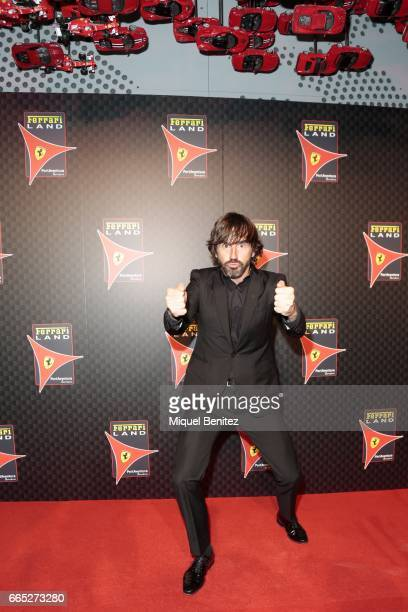 Santi Millan attends the new Ferrari Land at Port Aventura World on April 6 2017 in Tarragona Spain