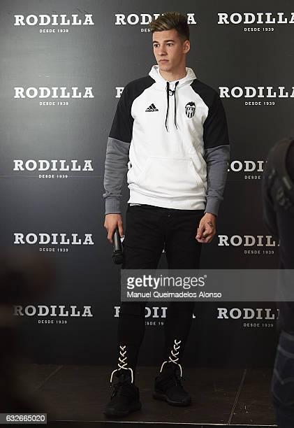 Santi Mina player of Valencia CF attends the Rodilla opening on January 25 2017 in Valencia Spain