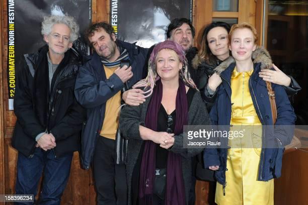 Santiago Amigorena Pippo Delbono Jennifer Chambers Lynch Giorgio Gosetti Francesca Neri and Franziska Petri attend the 22th Courmayeur Noir In...