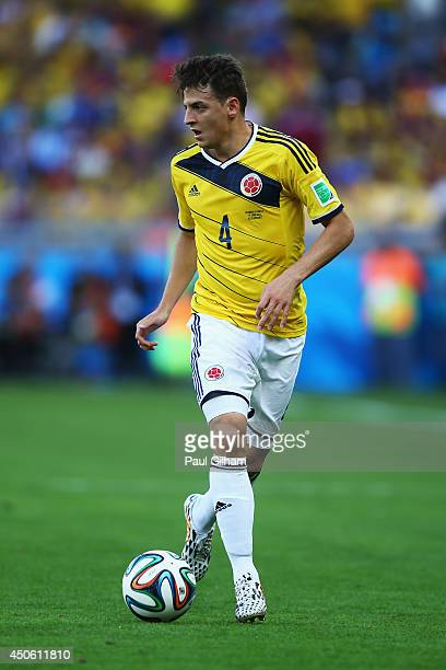 Santiago Arias of Colombia during the 2014 FIFA World Cup Brazil Group C match between Colombia and Greece at Estadio Mineirao on June 14 2014 in...