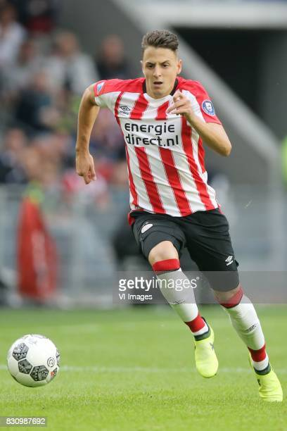 Santiago Arias of PSV during the Dutch Eredivisie match between PSV Eindhoven and AZ Alkmaar at the Phillips stadium on August 12 2017 in Eindhoven...