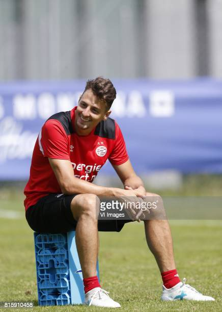 Santiago Arias of PSV during the preseason summer training camp of PSV Eindhoven at Stade StMarc on July 17 2017 in Bagnes Switzerland