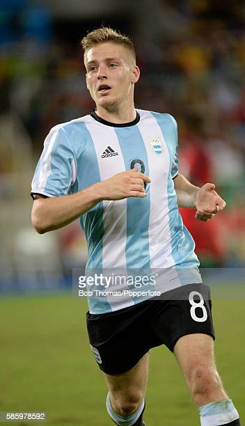 Santiago Ascacibar in action for Argentina during the Men's Group D first round match between Portugal and Argentina during the Rio 2016 Olympic...