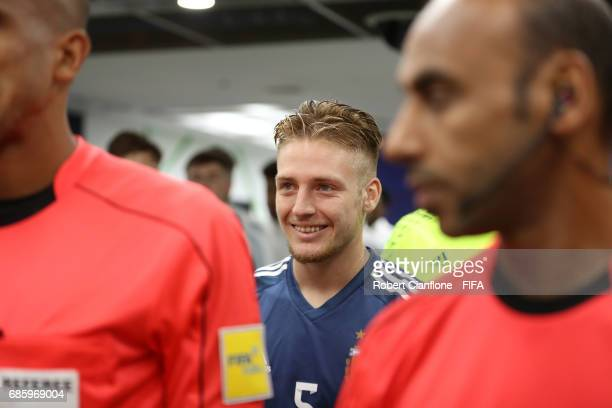 Santiago Ascacibar of Argentina is seen in the player's tunnel before the FIFA U20 World Cup Korea Republic 2017 group A match between Argentina and...