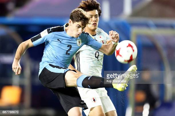 Santiago Bueno of Uruguay in action during the FIFA U20 World Cup Korea Republic 2017 group D match between Uruguay and Japan at Suwon World Cup...