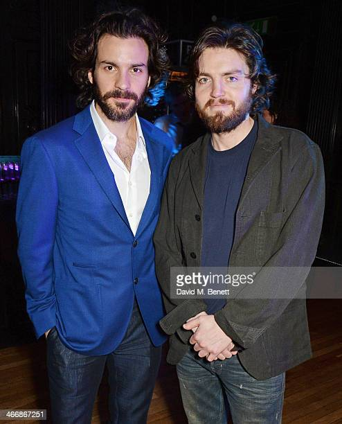 Santiago Cabrera and Tom Burke attend the InStyle Best of British Talent party in celebration of BAFTA in association with Lancome and Sky Living at...