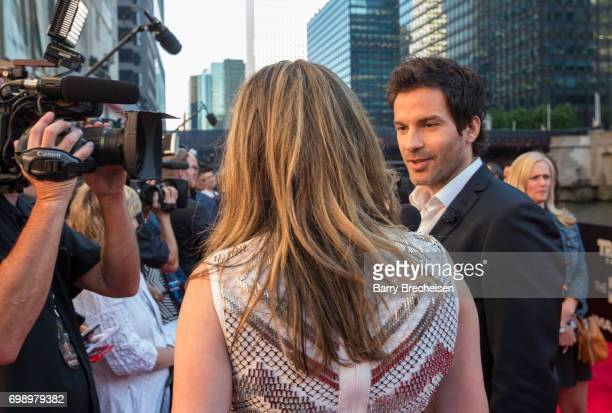 Santiago Cabrera appears at the Transformers The Last Knight Chicago premiere at Civic Opera Building on June 20 2017 in Chicago Illinois