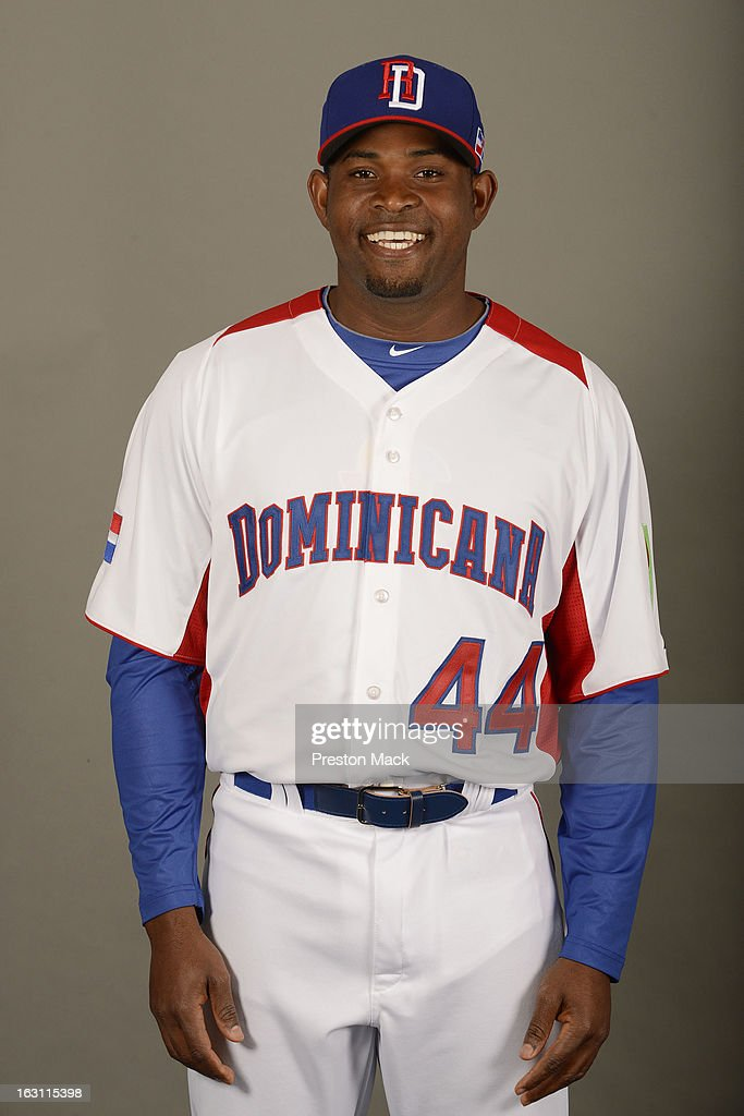 Santiago Casilla #44 of Team Dominican Republic poses for a headshot for the 2013 World Baseball Classic on March 4, 2013 at George M. Steinbrenner Field in Tampa, Florida.
