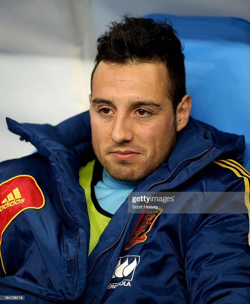 Santiago Cazorla of Spain during a FIFA 2014 World Cup Qualifier between France and Spain at Stade de France on March 26, 2013 in Paris, France.