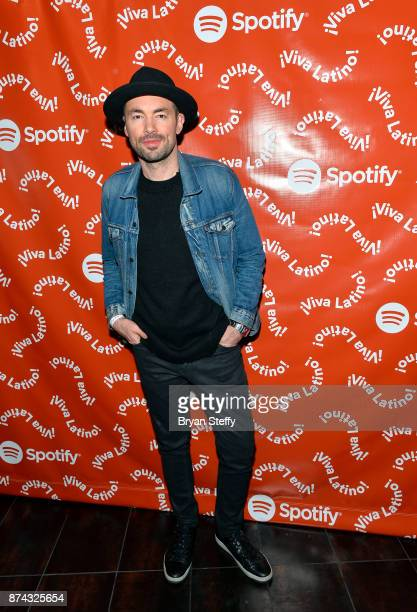 Santiago Cruz at Spotify Celebrates Latin Music and Their Viva Latino Playlist at Marquee Nightclub on November 14 2017 in Las Vegas Nevada
