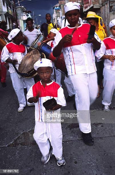 CONTENT] Santiago de Cuba Cuba July 12 2011 Young conga drummers perform in the Sueño neighborhood in Santiago de Cuba The conga is the most...