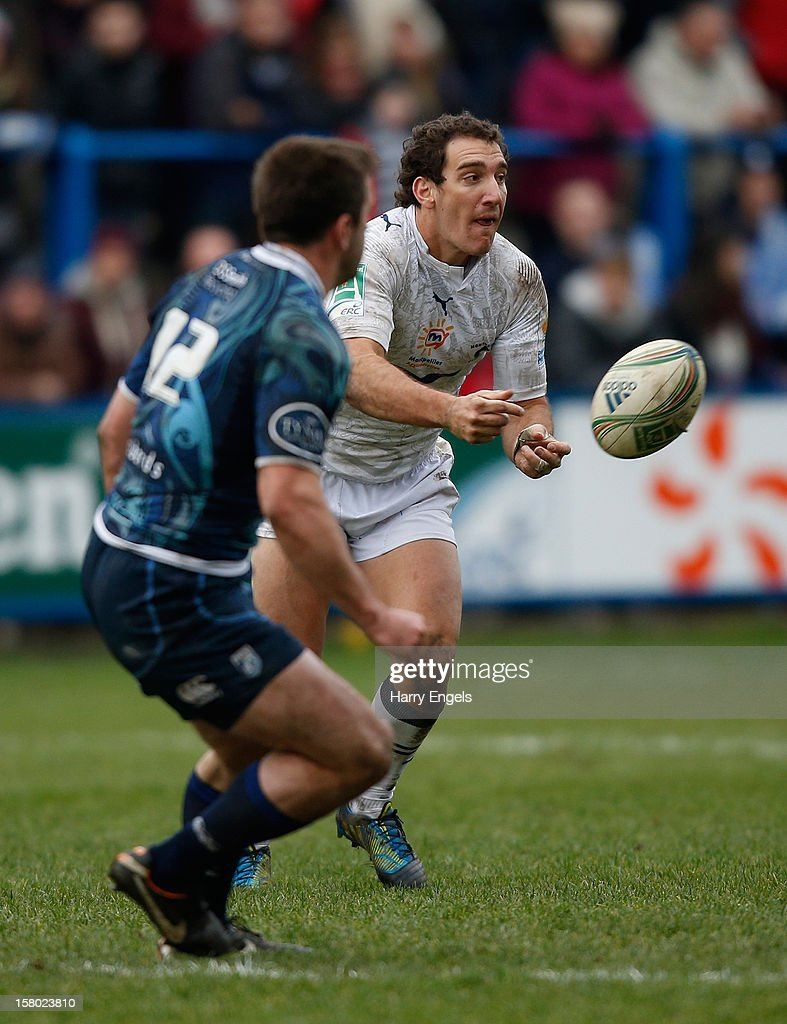 Santiago Fernandez of Montpellier runs with the ball during the Heineken Cup match between Cardiff Blues and Montpellier at Cardiff Arms Park on December 9, 2012 in Cardiff, Wales.