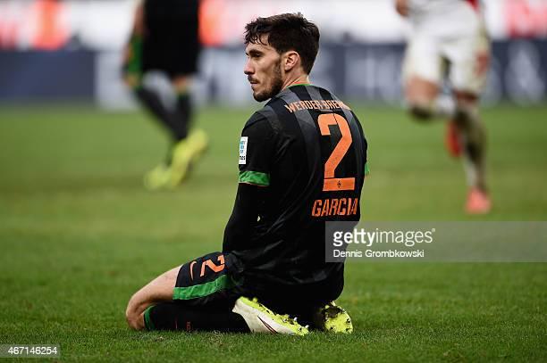 Santiago Garcia of SV Werder Bremen reacts during the Bundesliga match between 1 FC Koeln and SV Werder Bremen at RheinEnergieStadion on March 21...