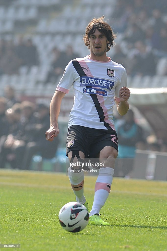 Santiago Garcia of US Citta di Palermo in action during the Serie A match between Torino FC and US Citta di Palermo at Stadio Olimpico di Torino on March 3, 2013 in Turin, Italy.