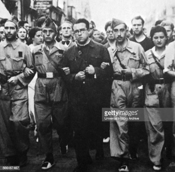 Santiago José Carrillo leads a militia march during the Spanish Civil War Santiago José Carrillo Spanish politician who served as General Secretary...