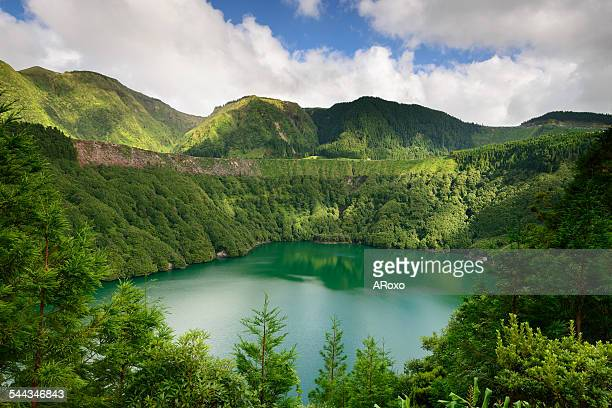 Santiago lagoon in Azores islands