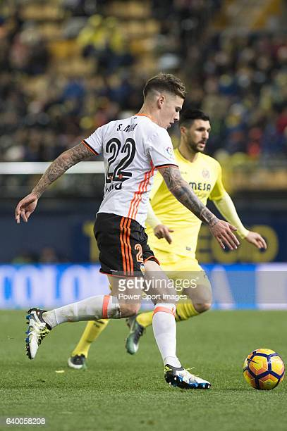 Santiago Mina Lorenzo Santi Mina of Valencia CF in action during their La Liga match between Villarreal CF and Valencia CF at the Estadio de la...