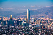 Financial district in Santiago, Chile