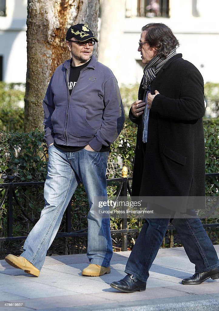 Santiago Segura and Pepe Navarro are seen on March 13 2014 in Madrid Spain