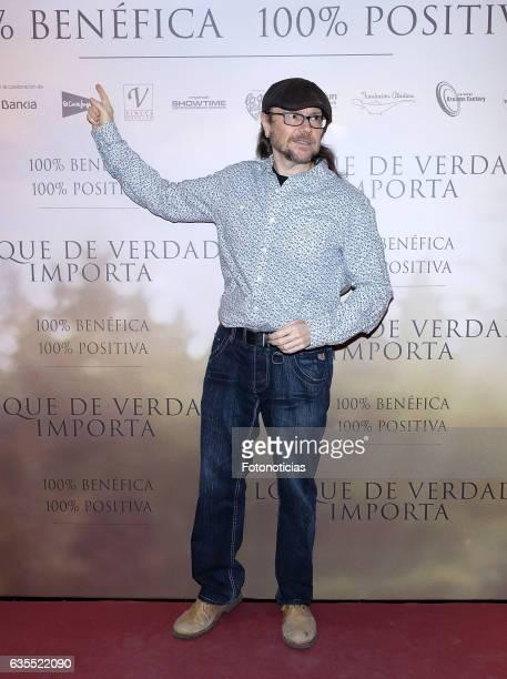 Santiago Segura attends the 'Lo Que De Verdad Importa' premiere at the Hotel Vincci Capitol on February 15 2017 in Madrid Spain