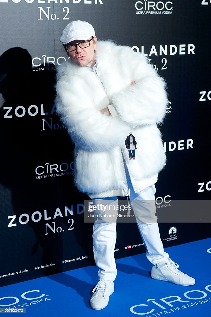 Santiago Segura attends the Madrid Fan Screening of the Paramount Pictures film 'Zoolander No 2' at the Capitol Theater on February 1 2016 in Madrid...
