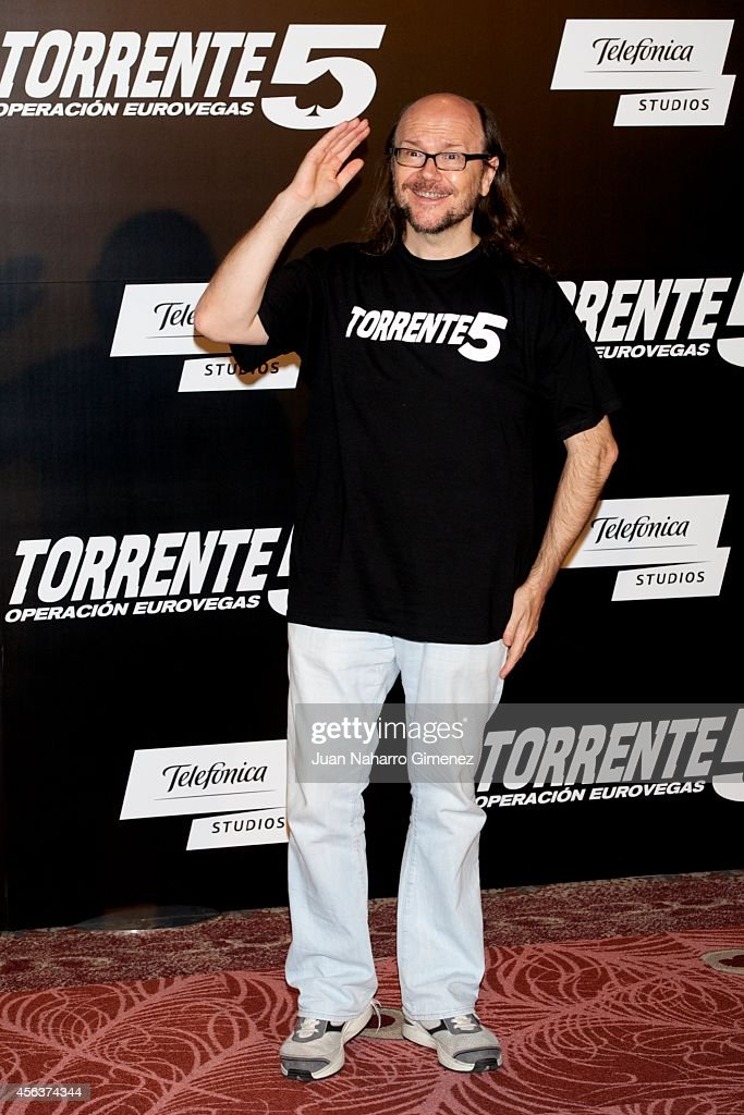 Santiago Segura attends 'Torrente 5 Operacion Eurovegas' photocall at Casino Gran Madrid on September 30 2014 in Madrid Spain