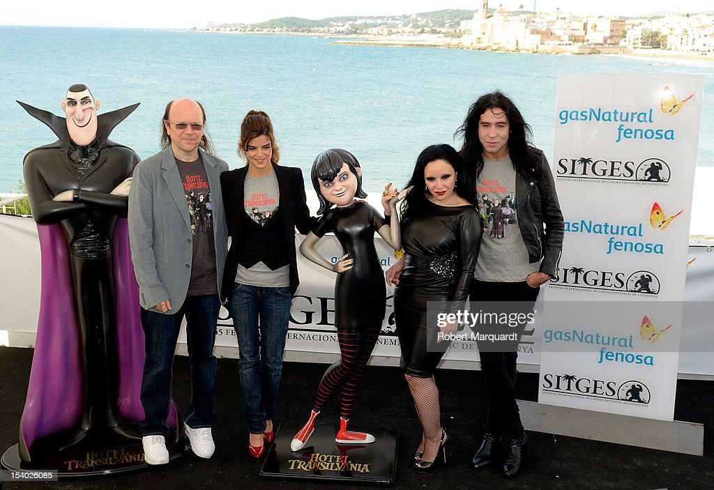 Santiago Segura Clara Lago Alaska and Mario Vaquerizo attend a photocall for their latest film 'Hotel Transilvania 3D' at the 45th Sitges Film...