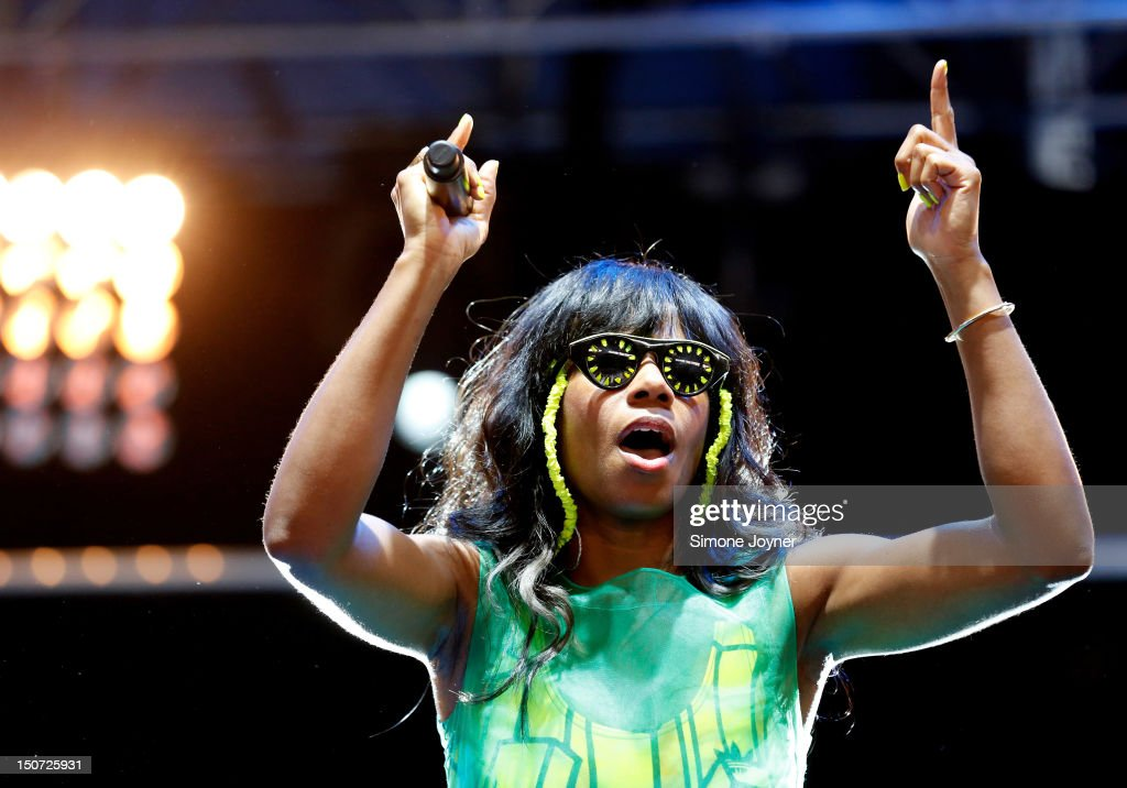 Santigold performs live on the Radio 1 NME Stage on Day Two during the Reading Festival 2012 at Richfield Avenue on August 25, 2012 in Reading, England.