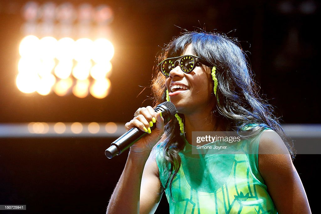 <a gi-track='captionPersonalityLinkClicked' href=/galleries/search?phrase=Santigold&family=editorial&specificpeople=4975985 ng-click='$event.stopPropagation()'>Santigold</a> performs live on the Radio 1 NME Stage on Day Two during the Reading Festival 2012 at Richfield Avenue on August 25, 2012 in Reading, England.