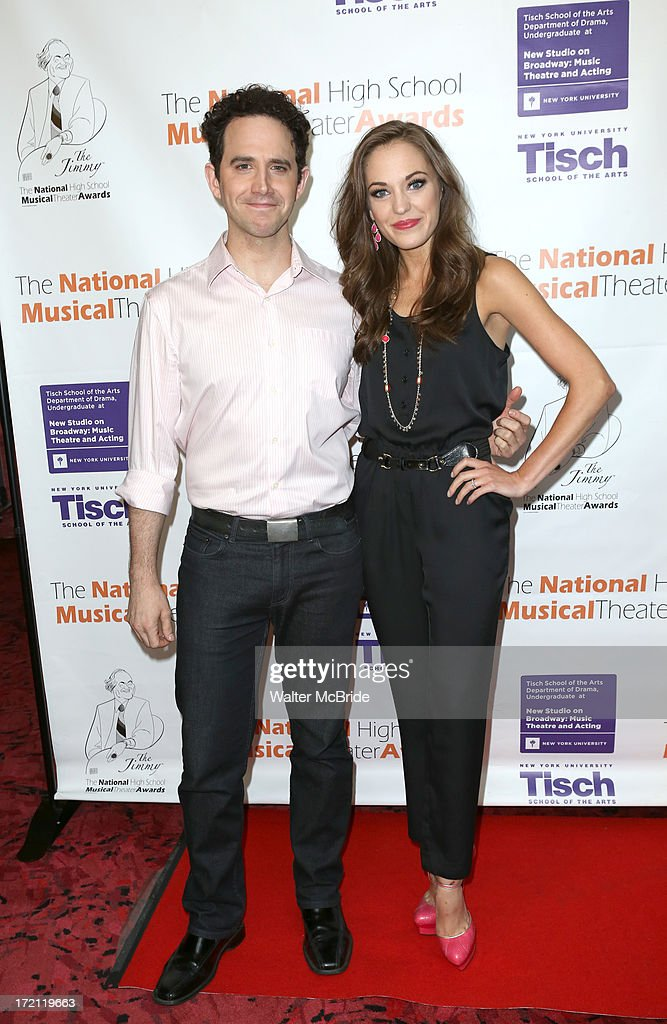 Santinio Fontana and Laura Osnes performs at the 5th Annual National High School Musical Theater Awards at Minskoff Theatre on July 1, 2013 in New York City.